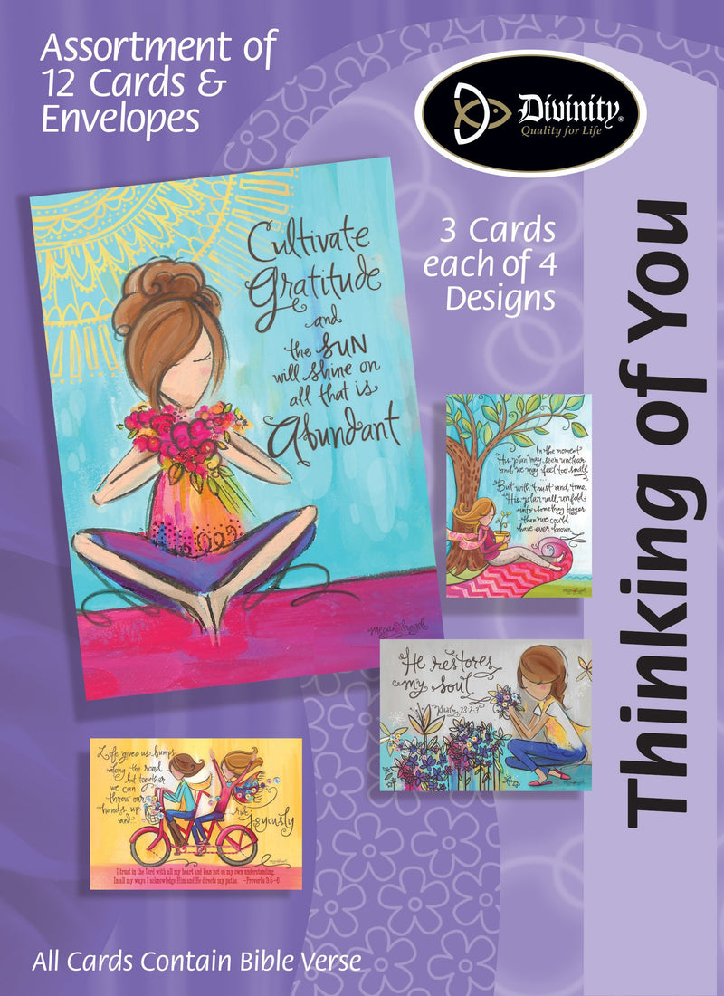 Divinity Boutique Boxed Cards: Thinking Of You, Painted Girls