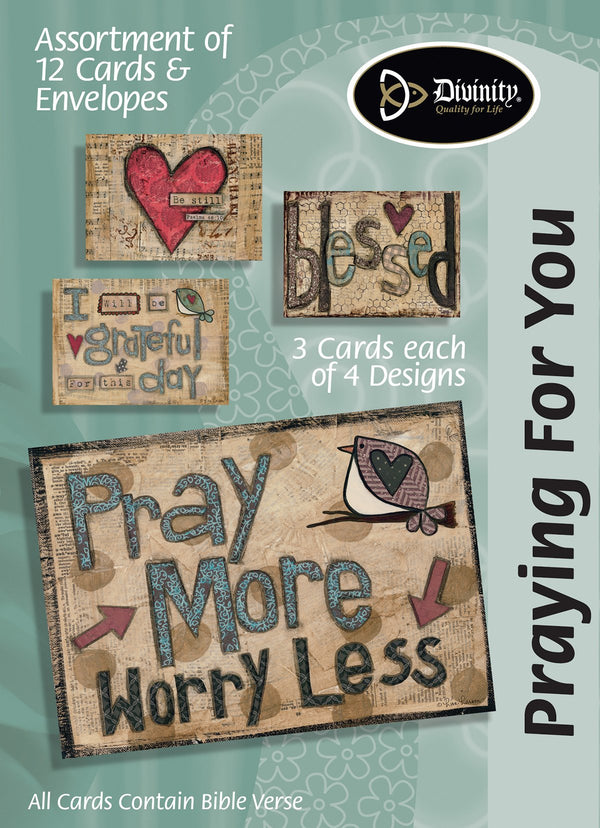 Divinity Boutique Boxed Cards: Praying For You, Pray More