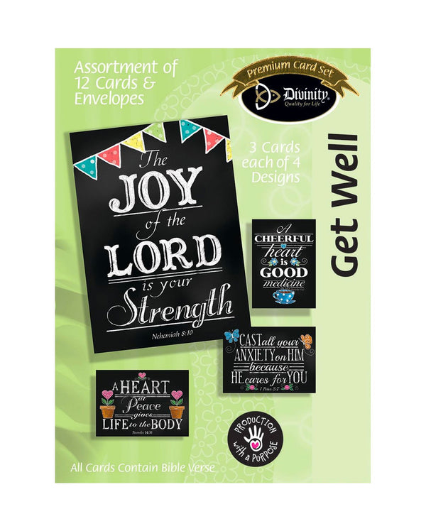 Boxed Cards: Get Well, Chalkboard