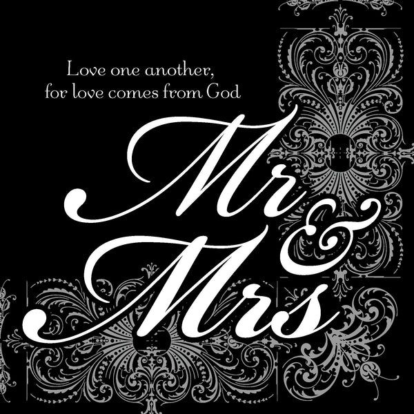 Divinity Boutique Napkin: Mr & Mrs