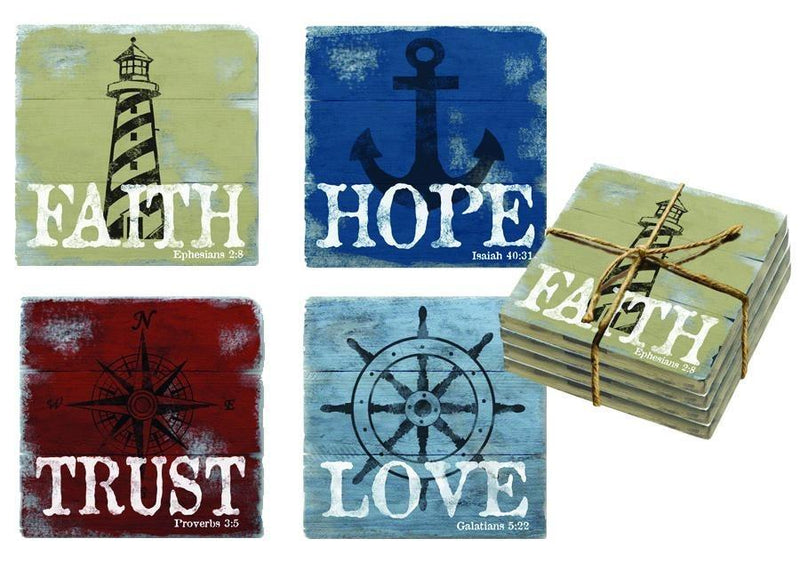 Divinity Boutique Nautical Collection Coasters
