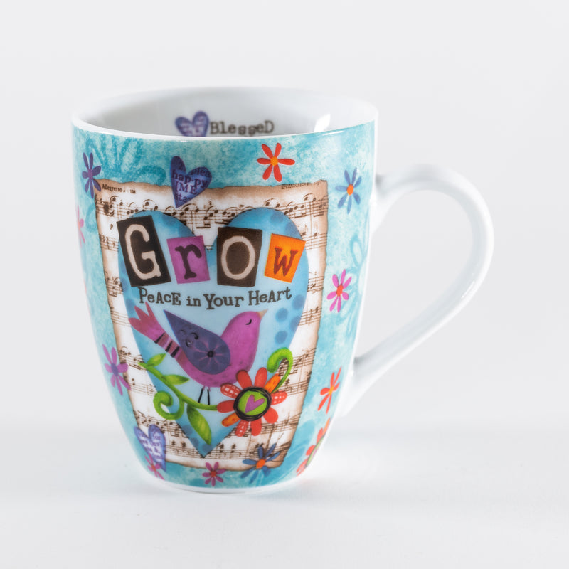 Ceramic Mug - Grow Peace Bird