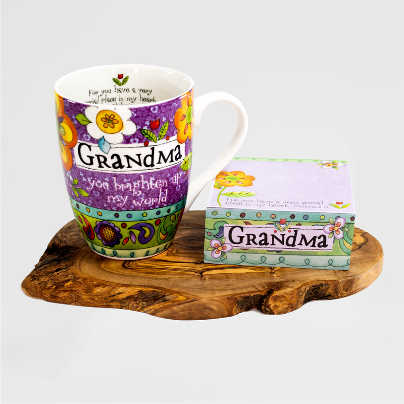 """Grandma"" Mug and Notepad Gift Set"
