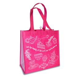 "Pink Eco Tote Bag - Psalm 90:17 ""Let The Beauty"""