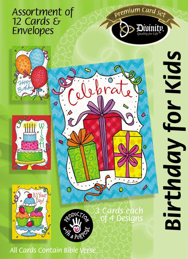Divinity Boutique Boxed Cards: Birthday For Kids, Bright Confetti