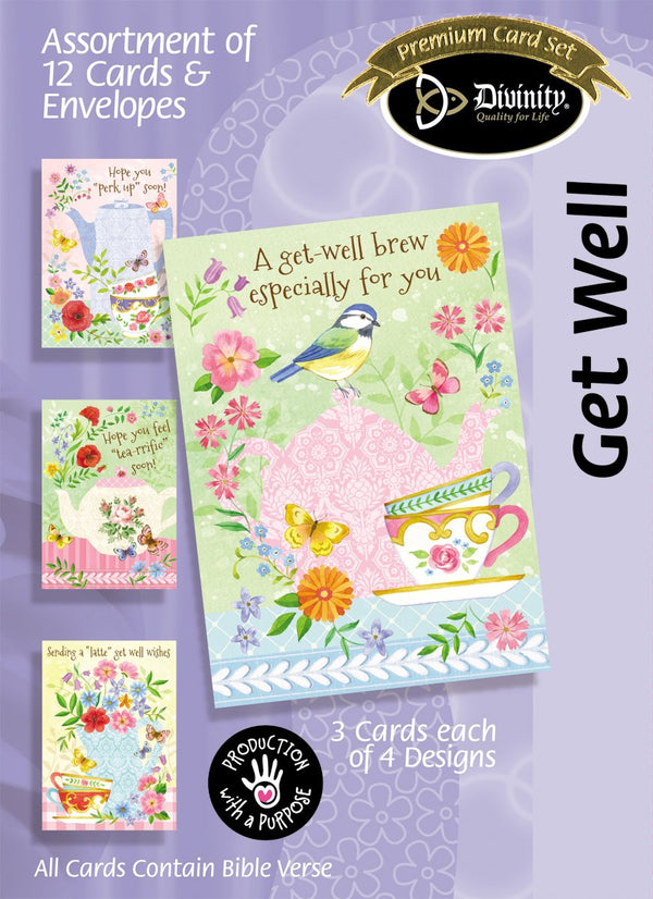 Divinity Boutique Boxed Cards: Get Well, Tea & Coffee