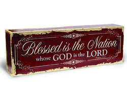 Divinity Boutique God Bless America: Blessed Wrapped Canvas