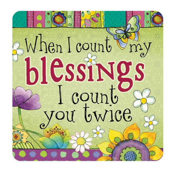 Divinity Boutique Hearts 'N Hugs: Ceramic Magnet - When I count my blessings