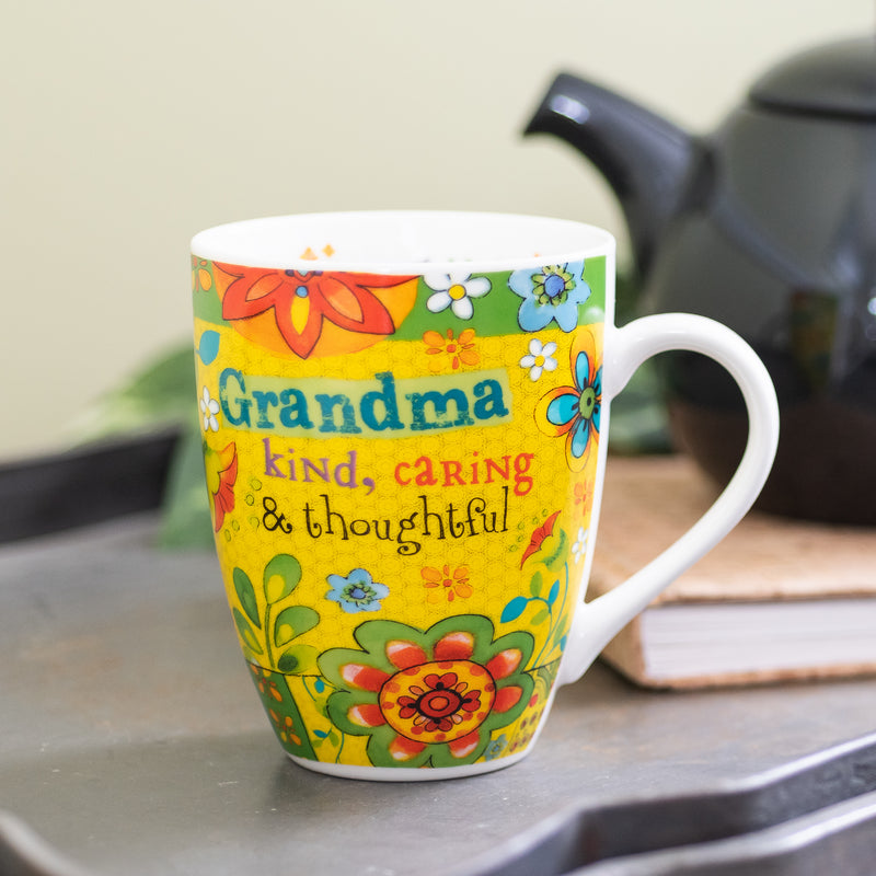 "Yellow ""Grandma"" Mug Boxed Gift Set - Colossians 3:12 - 12 oz"