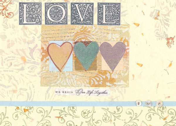 Single Cards: Love Triple Hearts (6 Pack)
