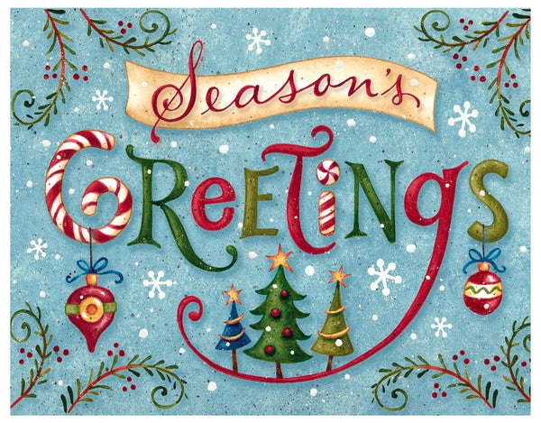 Boxed Christmas Cards: Seasons Greetings Word Whimsy