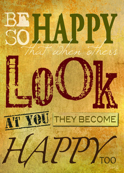 Divinity Boutique Single Cards: Be So Happy Words (6 Pack)
