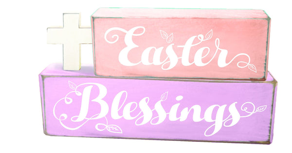 Divinity Boutique Easter Blessings Cross Stacked Blox