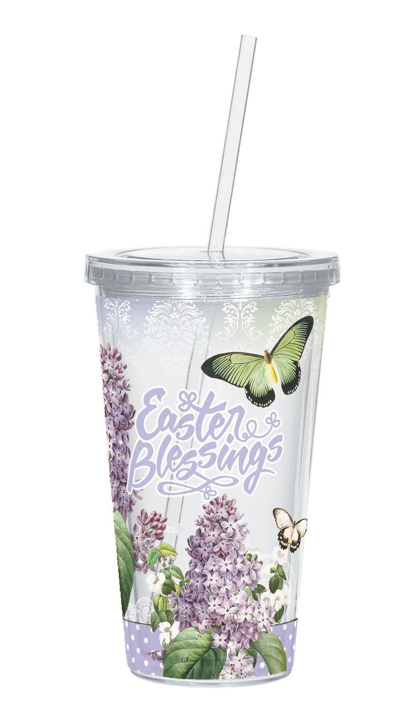 Divinity Boutique Butterflies Easter Blessings Straw Cups
