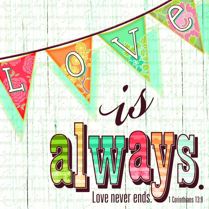 Divinity Boutique Napkin: Love Is Always