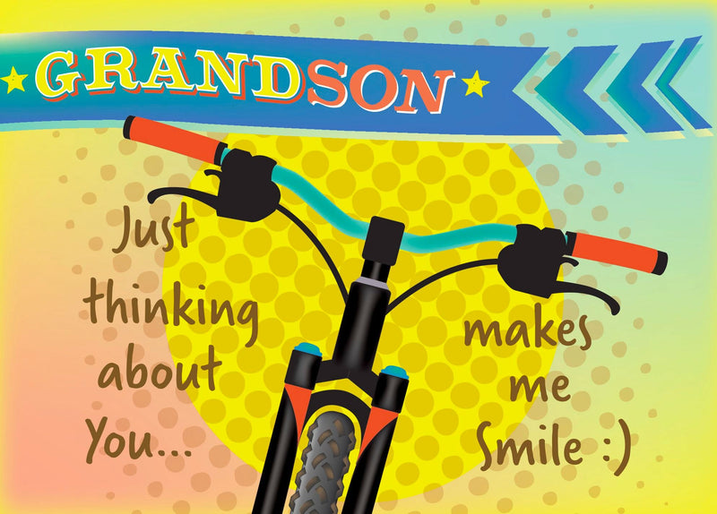 Single Cards: Thinking Of You Grandson (6 Pack)
