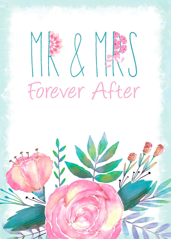 Single Cards: Wedding Mr. & Mrs. (6 Pack)