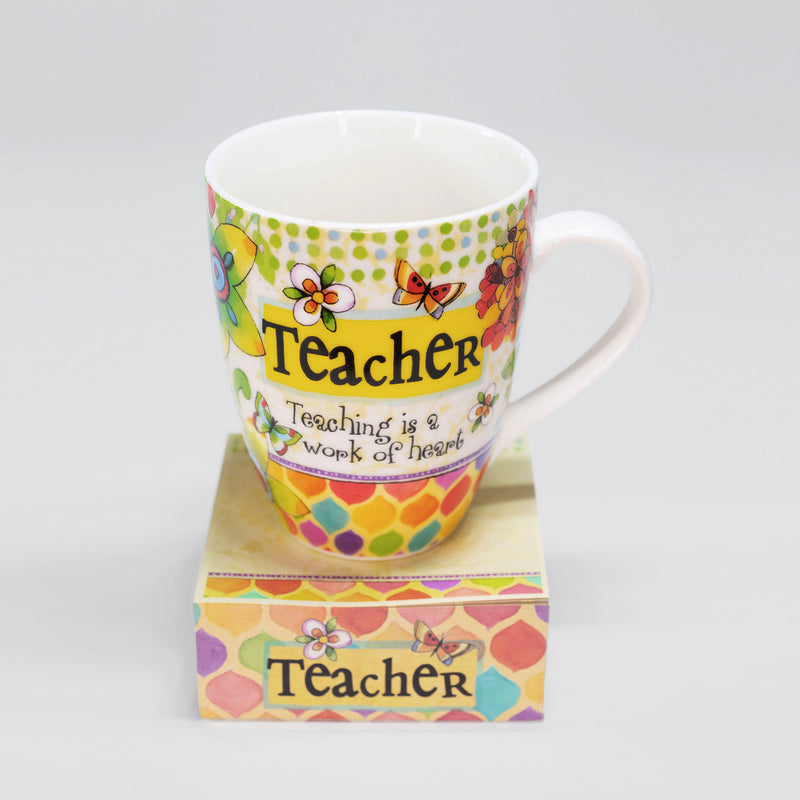 """Teacher"" Mug with Notepad Gift Set"
