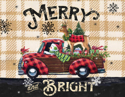 Divinity Boutique Boxed Christmas Cards: Merry And Bright Old Truck