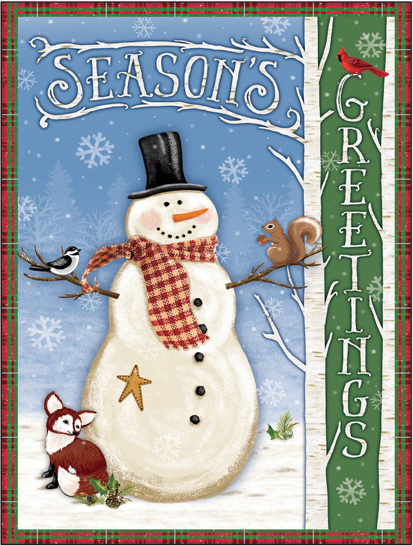 Divinity Boutique Boxed Christmas Cards: Seasons Greetings Snowman