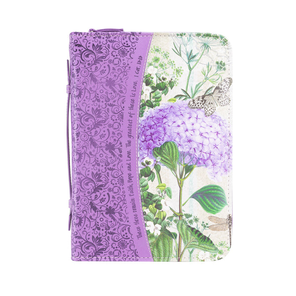Bible Cover - Purple Hydrangea