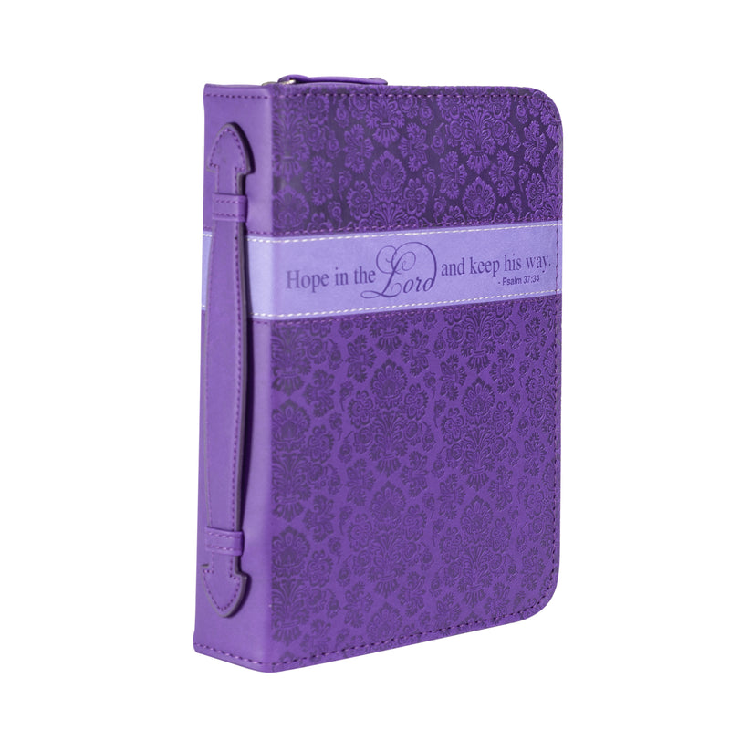 Bible Cover - Purple Hope In The Lord
