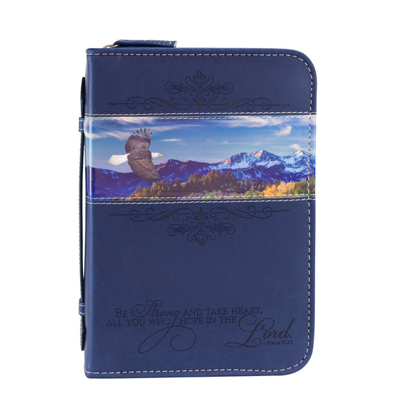 Bible Cover - Navy Blue, Flying Eagle