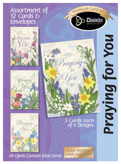 Divinity Boutique Boxed Cards: Praying for you Florals & Butterflies