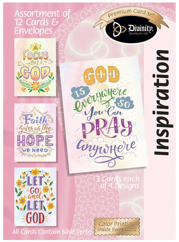 Divinity Boutique Boxed Cards: Inspiration Trendy Wording, Gold accents