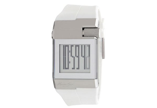 Orologio Digitale Donna Bianco Kenneth Cole New Yourk in Gomma