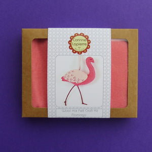 Mini Flamingo Sewing Kit by Corinne Lapierre