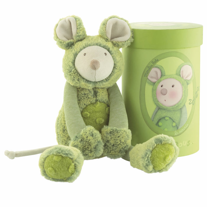 Green Mouse Soft Toy in Gift Box
