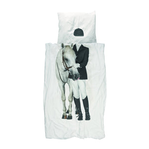 Horse and Rider Duvet and Pillow Set