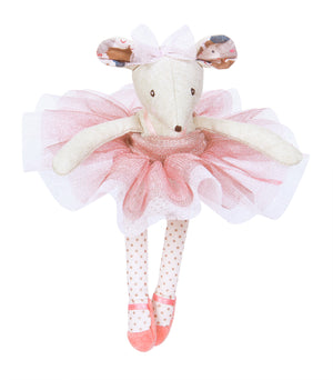Ballerina Mouse by Moulin Roty - mouse standing up on white background