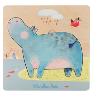 Hippo Jigsaw Puzzle - Moulin Roty