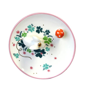 Mouse Trinket Dish with Gift Box by House of Disaster - aerial view