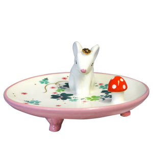 Mouse Trinket Dish with Gift Box by House of Disaster - front view