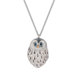 Owl Necklace - this baby owl necklace is made from porcelain and delicately hand painted. A beautiful gift for owl lovers.