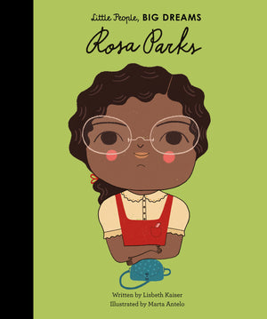 Rosa Parks Book - Front Cover - Rosa Parks is famous for refusing to get up from her seat on a bus. Rosa grew up in Alabama, where she learned to stand up for herself at an early age. She went on to become a civil rights activist whose courage and dignity sparked the movement that ended segregation. She never stopped working for equal rights.  This inspiring story of her life features a facts and photos section at the back.