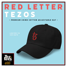 Load image into Gallery viewer, Red Letter Tezos - Premium Chino Cotton Adjustable Hat - #20
