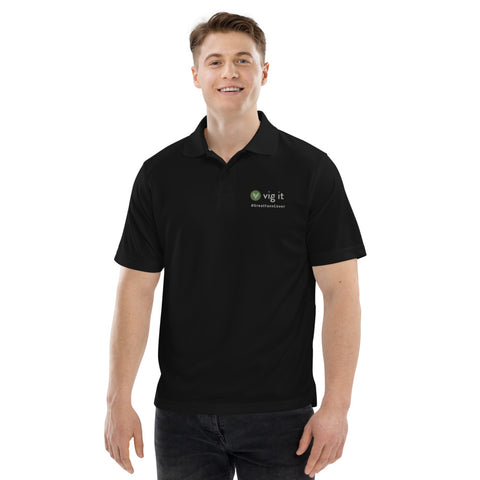 Black Vig It Men's Champion performance polo