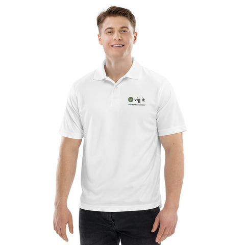 White Vig It Men's Champion performance polo