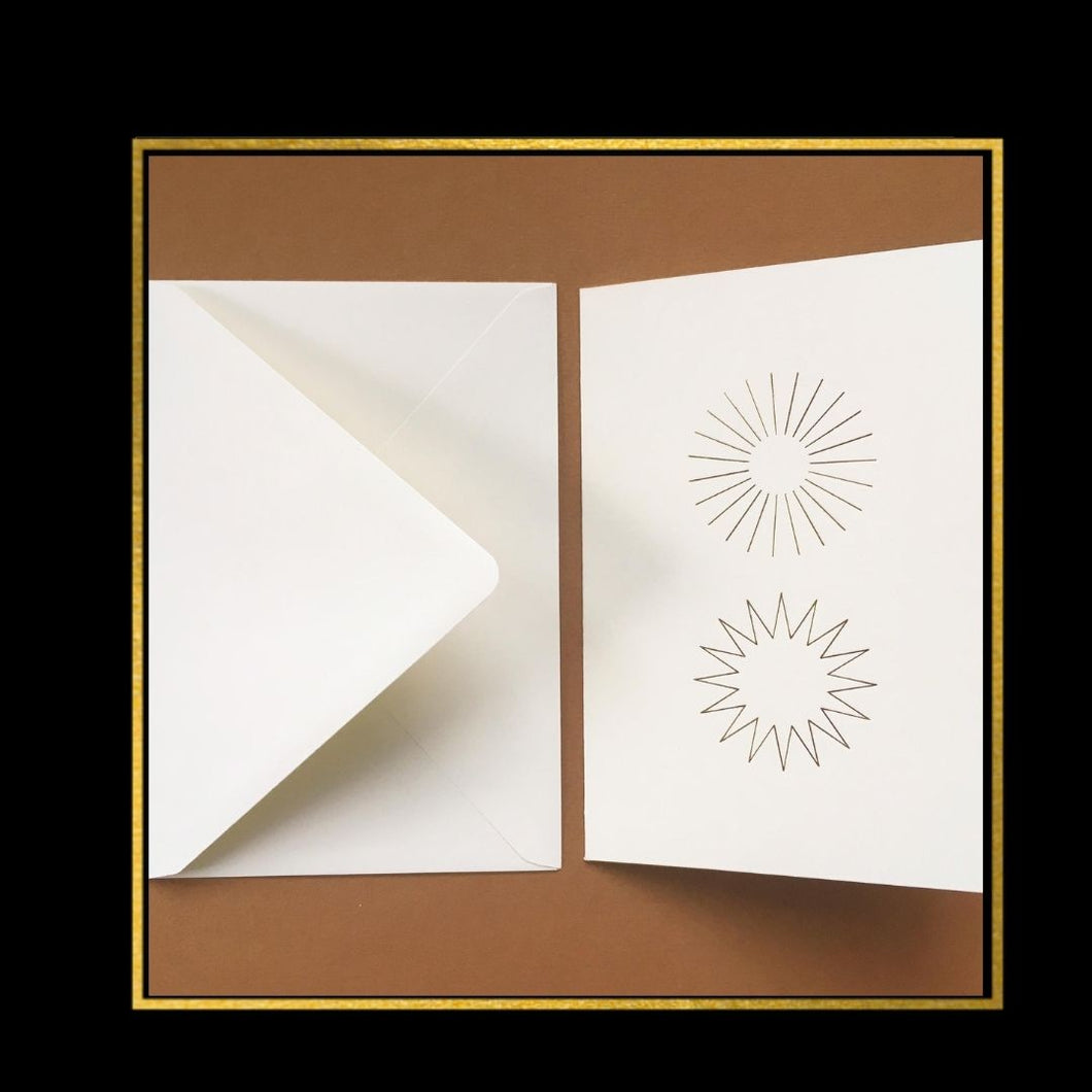 DOUBLE SUNS FOLDED CARDS