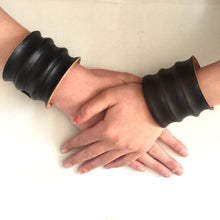 Load image into Gallery viewer, BOUDICA HAND-FORMED LEATHER CUFFS