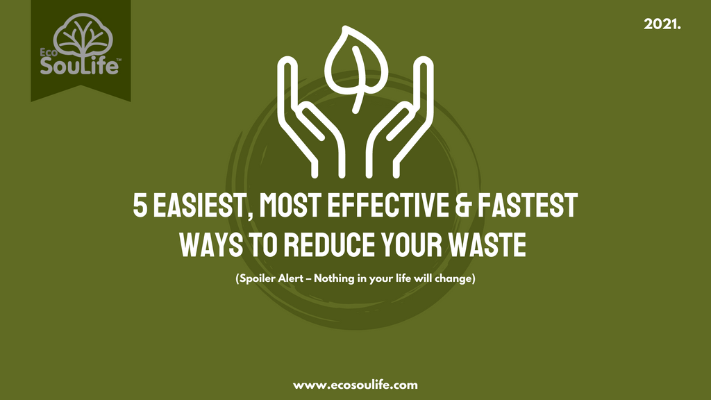 5 easiest/most effective/fastest ways to reduce your waste - EcoSouLife Blog