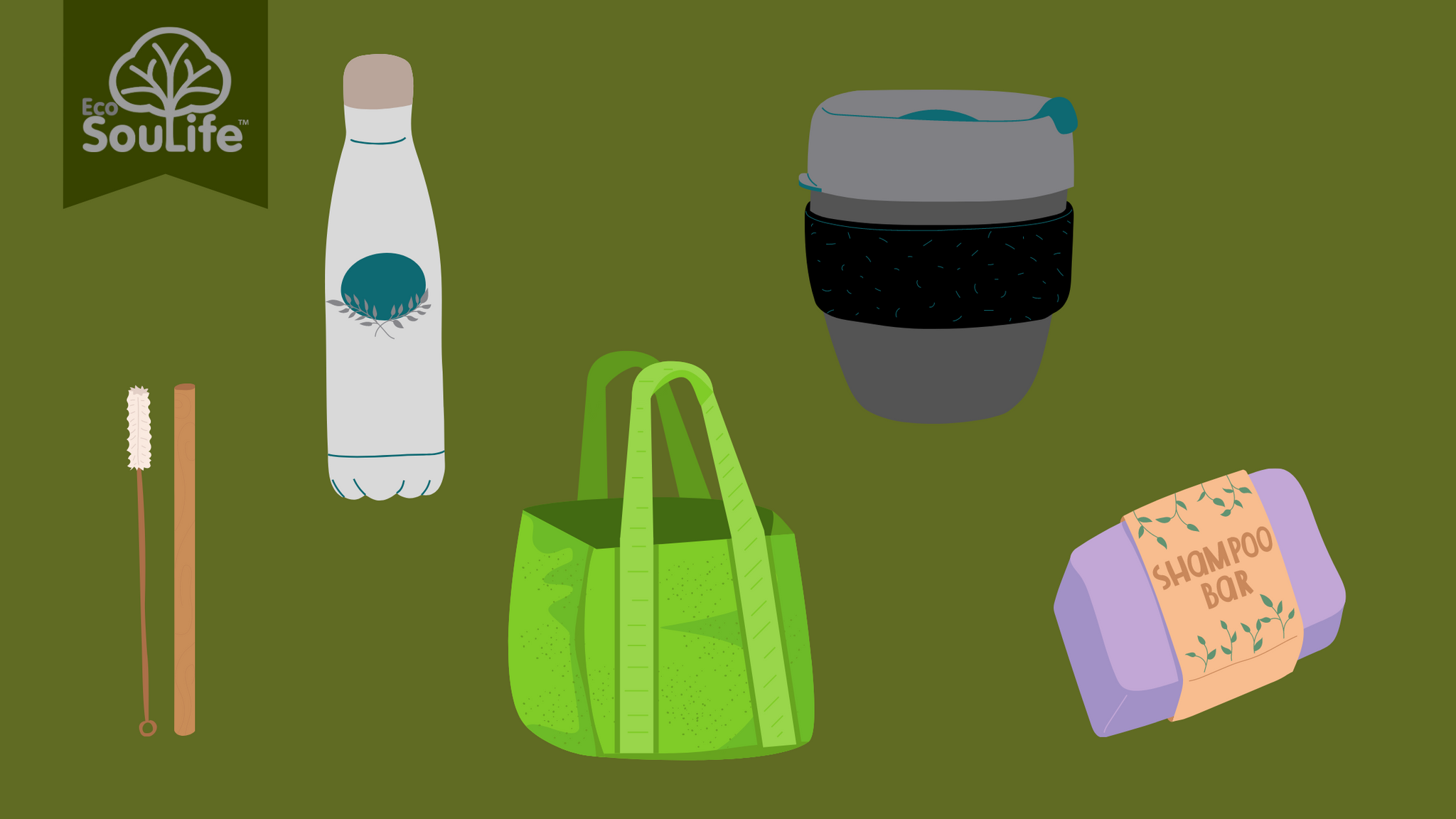Reusable Alternatives to Plastic - EcoSouLife Blog (5 easiest/most effective/fastest ways to reduce your waste)