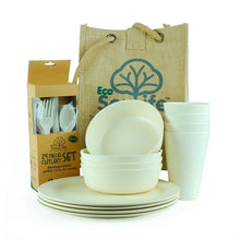 Load image into Gallery viewer, EcoSouLife Sand Biodegradable 37 PC Picnic Set All Natural Material