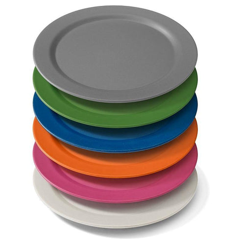 EcoSouLife Stack of Biodegradable 25cm Dinner Plate All Natural Material
