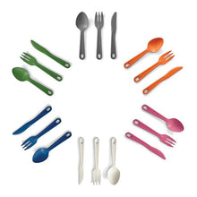 Load image into Gallery viewer, EcoSouLife All Natural Cutlery Set Group
