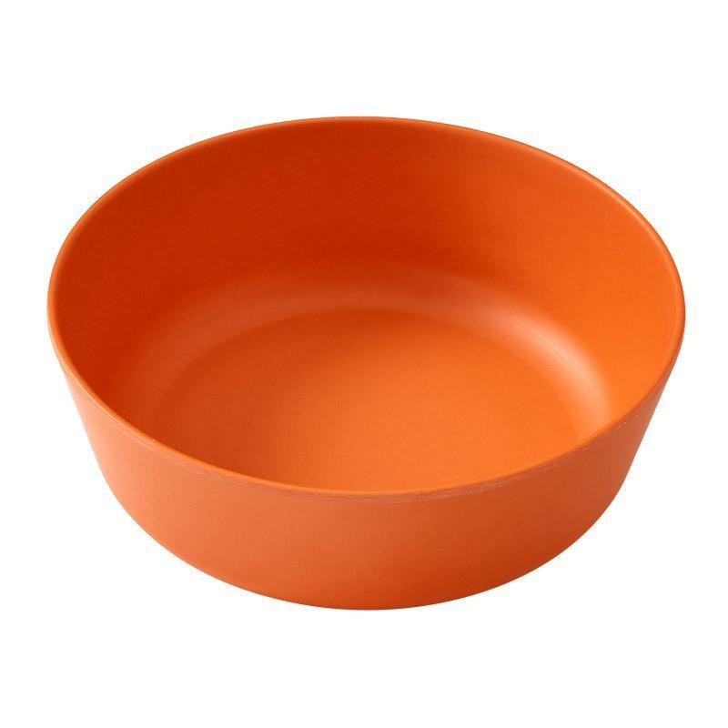 EcoSouLife Orange Biodegradable 18 Oz Bowl All Natural Material